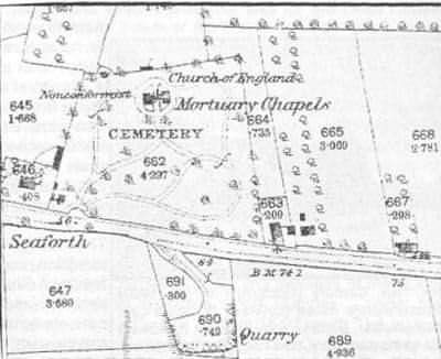 OS map of cemetery